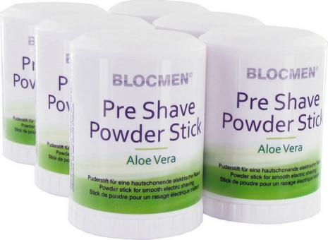6 Stk BLOCMEN© Aloe Vera Pre-Shave Rasurpuderstift