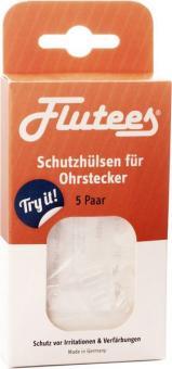 Flutees® Schutzhülsen bei Nickel-Allergien für Ohrstecker - 5 Paar