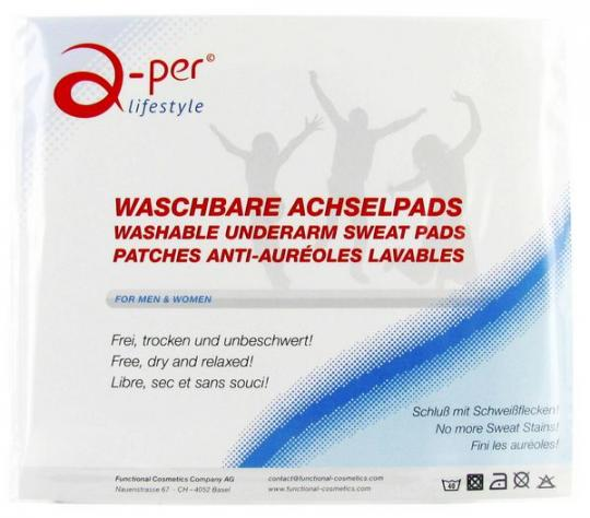 a-per© Washable Underarm Sweat Pads - White