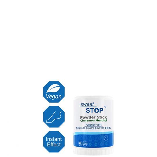 SweatStop® Fußpuderstift mit Zimt & Menthol für trockene Füße