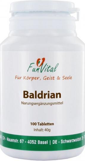 FunVital Baldrian (Valeriana), 100 Tabletten à 400 mg
