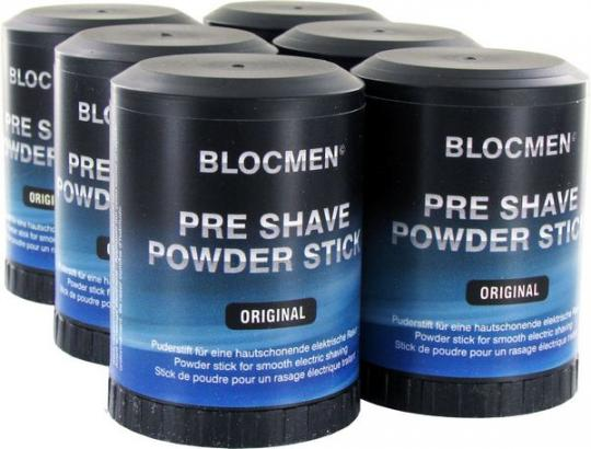 6 Stk BLOCMEN© Original Pre-Shave Rasurpuderstift