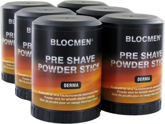 6 Stk BLOCMEN© Derma Pre-Shave Rasurpuderstift