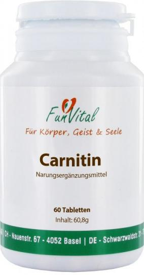 FunVital Carnitin, 60 Tabletten à 680 mg