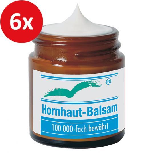 Hornhaut Balsam von Badestrand gegen Hornhaut an den Füßen, Händen, Ellenbogen und Knien. Nachweislich wirksam. 6er Set.
