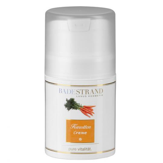 Karotten Creme von Badestrand für jeden Hauttyp geeignete Gesichtspflege für Tag und Nacht auf pflanzlicher Basis