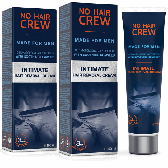 NO HAIR CREW Intimate Hair Removal Cream - for Men Set of 2