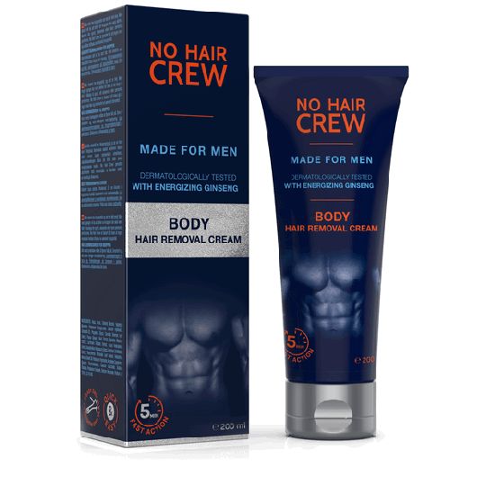 NO HAIR CREW Body Hair Removal Cream - for Men