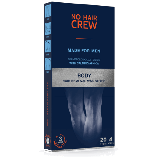 NO HAIR CREW High Performance Wax Strips for Body Depilation - for Men