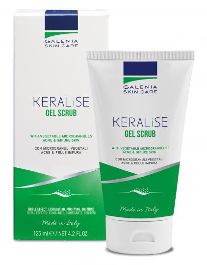 Galenia Skin Care® KERALISE Peeling-Gel mit Mikrogranulat bei Akne bei Neigung zu Akne, verstopften Poren und fettiger Haut. Mit sofortigem Glätteeffekt