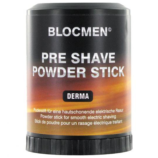 BLOCMEN© Derma Pre-Shave - Rasurpuderstift für eine besonders schonende Trockenrasur. Ohne Duft- und Farbstoffe.