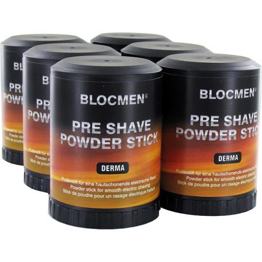 BLOCMEN© Derma 6x Rasurpuderstift für eine schonende Trockenrasur