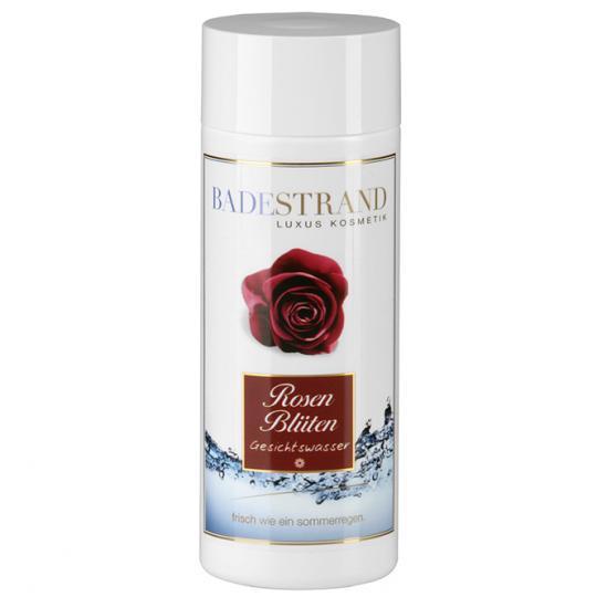 Rosenblüten Gesichtswasser reinigt und bereitet die Haut optimal vor