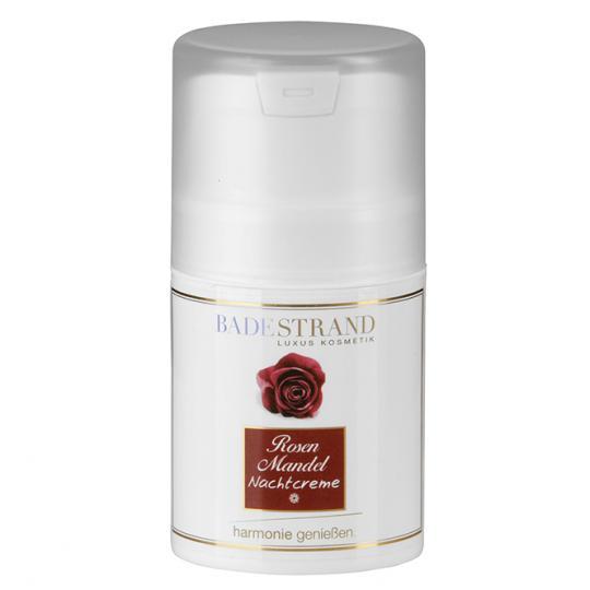 Rosenmandel Nachtcreme von Badestrand für die ideale Pflege in den erholsamen, regenerativen Nachtstunden. Für eine schönere Haut