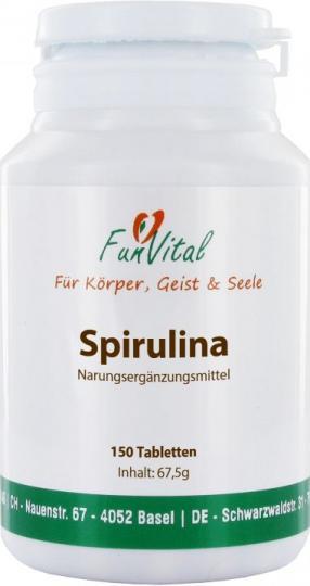 FunVital Spirulina, 150 Tabletten à 450 mg