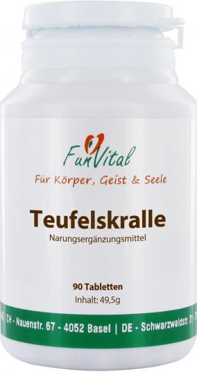 FunVital Teufelskralle (Harpagophytum), 100 Tabletten à 500 mg