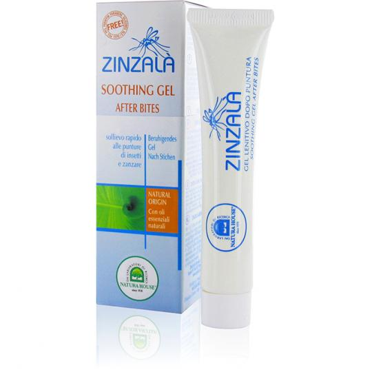 Zinzalà® Beruhigendes Gel zur Anwendung nach Insektenbissen und Mückenstichen. Mit natürlichen ätherischen Ölen.