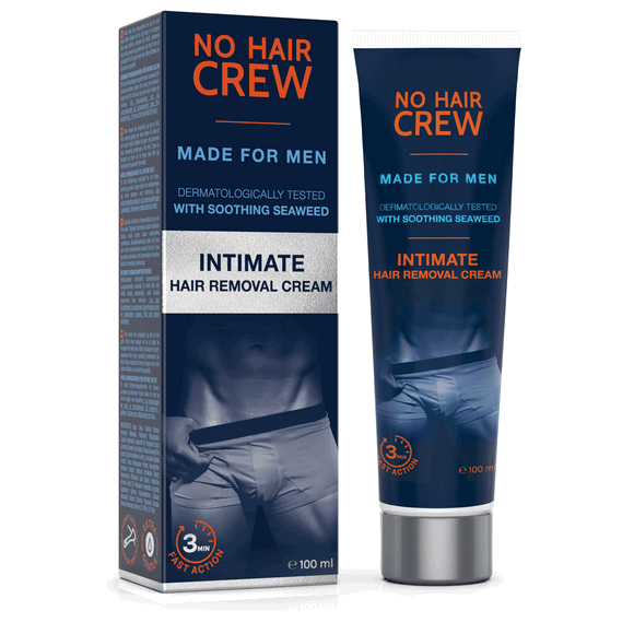 No Hair Crew Intimate Hair Removal Cream For Men Nose Ear Care